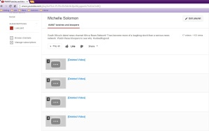 This is a print screen of a Youtube playlist of ANN7 bloopers videos that I compiled.