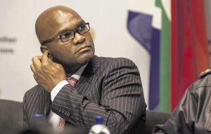 South African Police Minister Nathi Mthethwa.